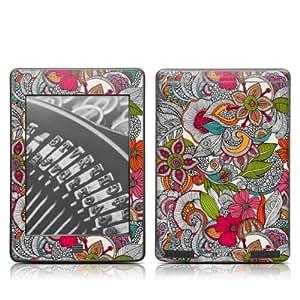 Decalgirl Doodle Color- Skin para Kindle Touch diseño floral
