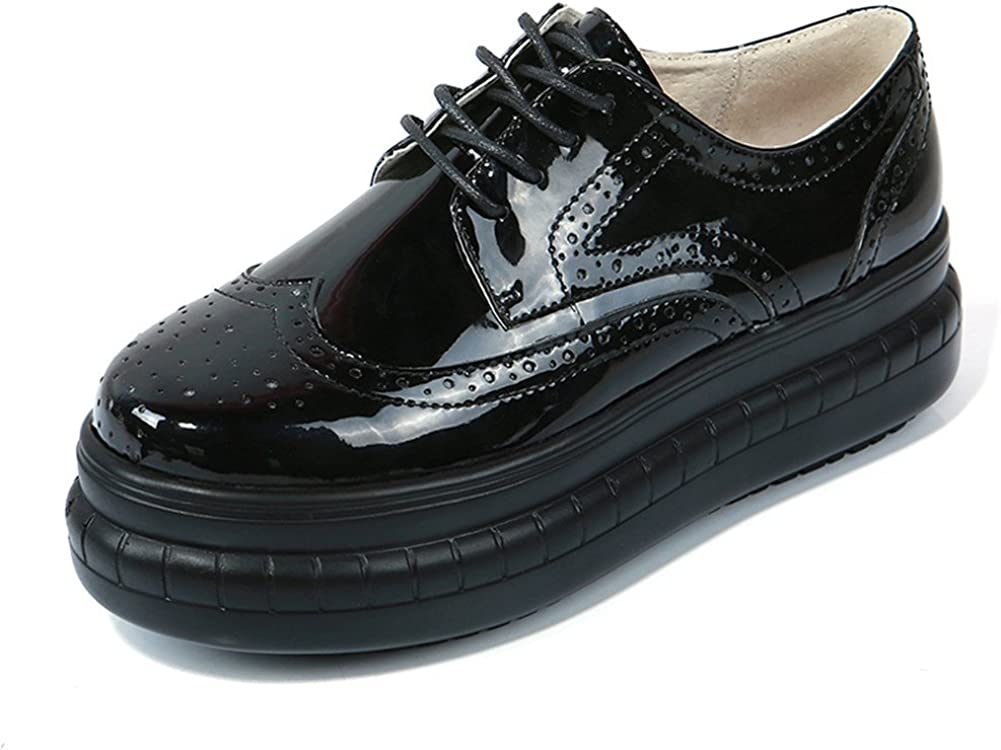 Leather Platform Lace Up Creepers