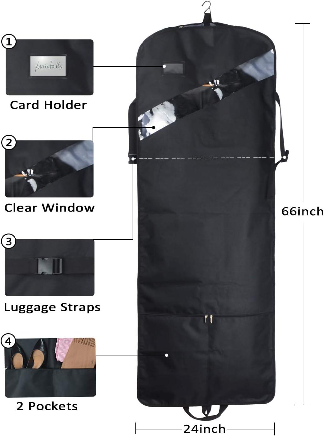 Amazon.com: Bolsa de vestir triple plegable, extra larga, de ...