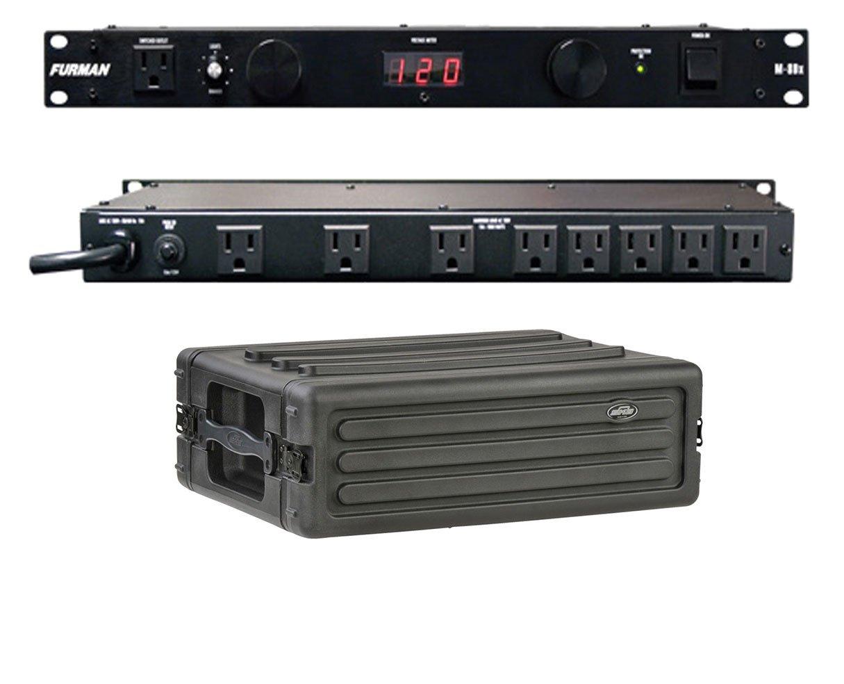 Furman M-8Dx 15 Amp Power Conditioner + SKB 1SKB-R3S 3U Shallow Rack
