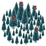 Topbuti 48 Pcs Bottle Brush Trees Mini Christmas
