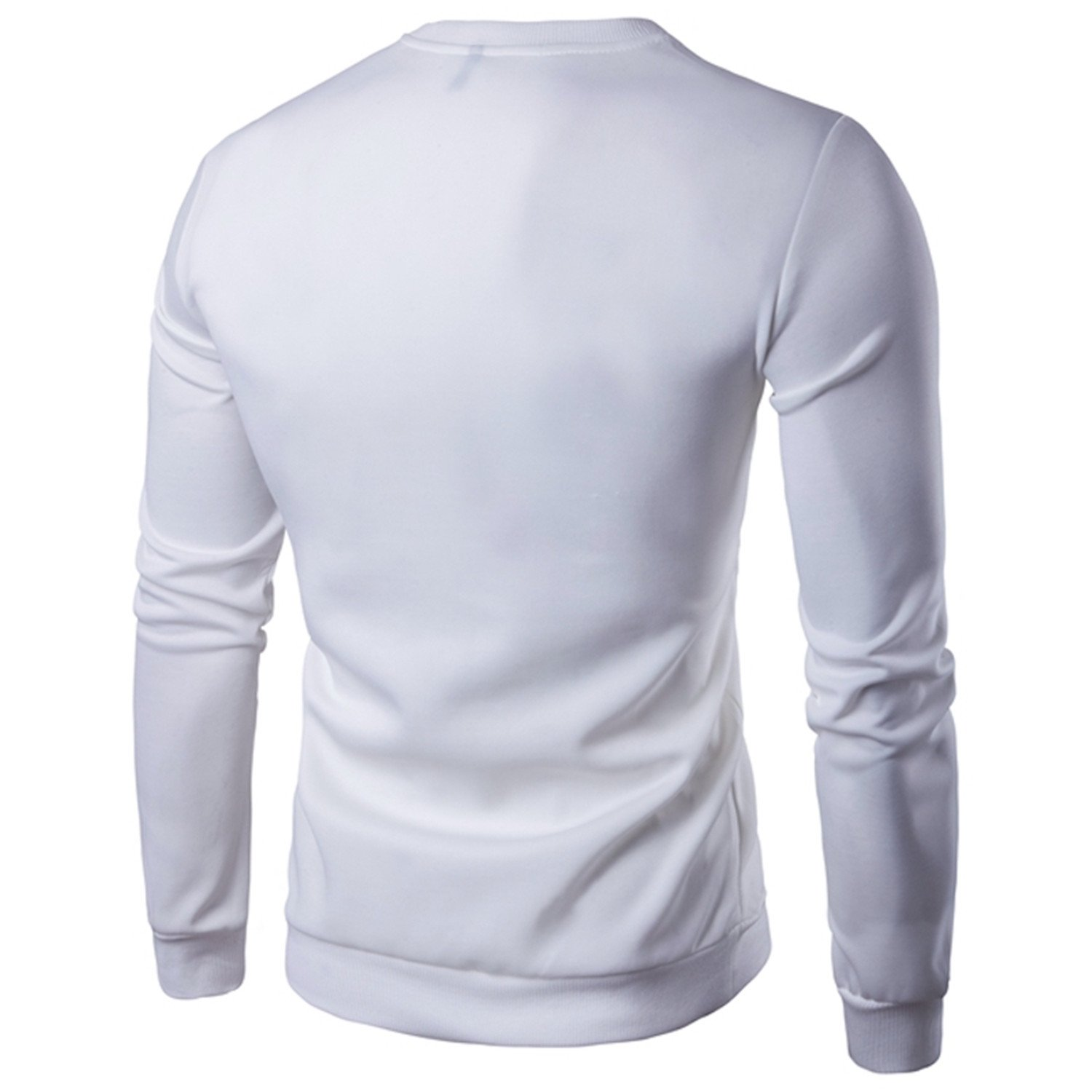 Men Spring And Long Sleeve Sweater Black/White M-5Xl at Amazon Mens Clothing store: