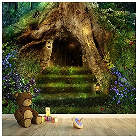Magical Tree House In A Forest Fantasy Fairytale Wall Mural Kids Photo Wallpaper Available In 8 Sizes Gigantic Digital