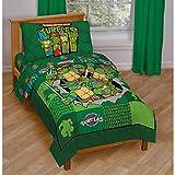Toddler Bedding Set Teenage Mutant Ninja Turtles 4 Piece Kids Comforter Set TMNT