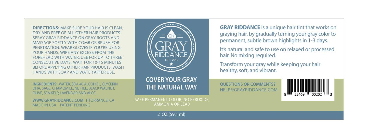 Amazon.com: Gray Riddance - Cover Your Gray The Natural Way ...