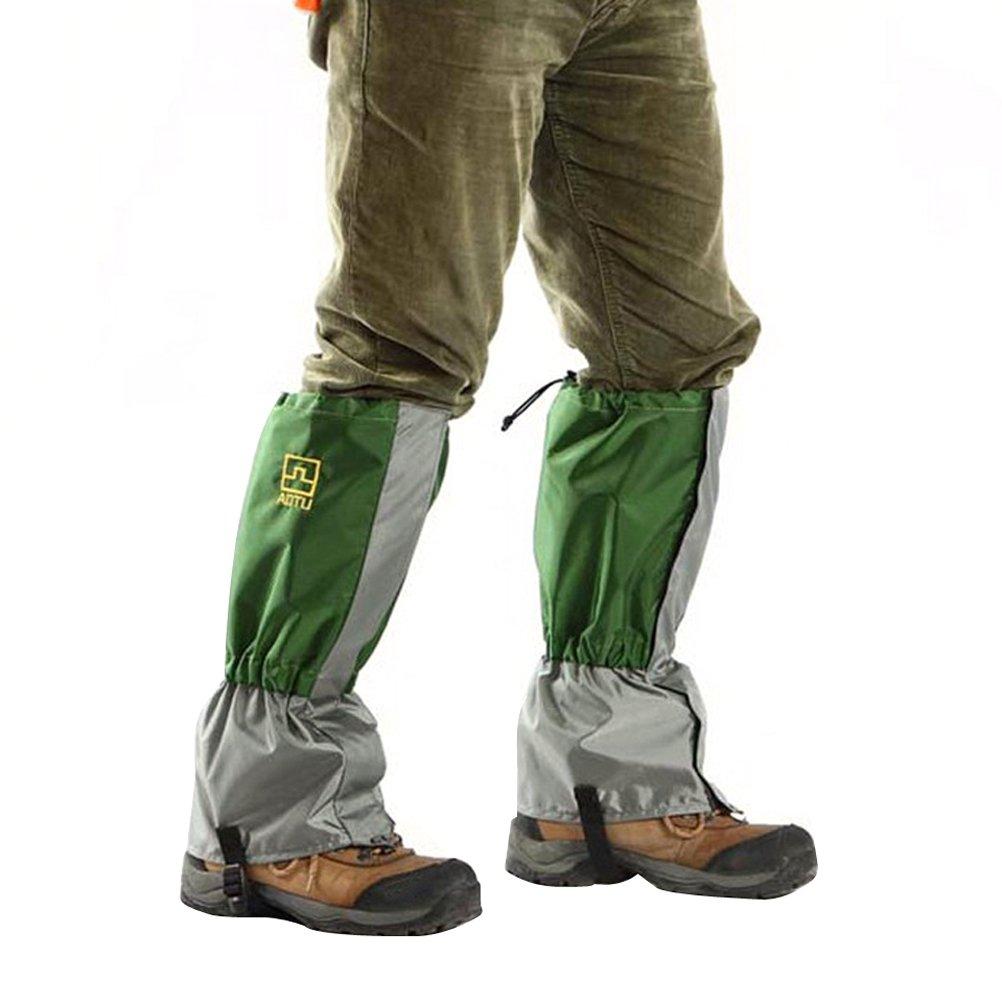 Gr/ün WINOMO Gamaschen Outdoor wasserdichte Outdoor-Hosen zum Wandern Klettern Jagd-Schnee Legging Bein Schutz