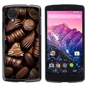 Be Good Phone Accessory // Dura Cáscara cubierta Protectora Caso Carcasa Funda de Protección para LG Google Nexus 5 D820 D821 // Box Chocolate Candy Art Dark Sweet