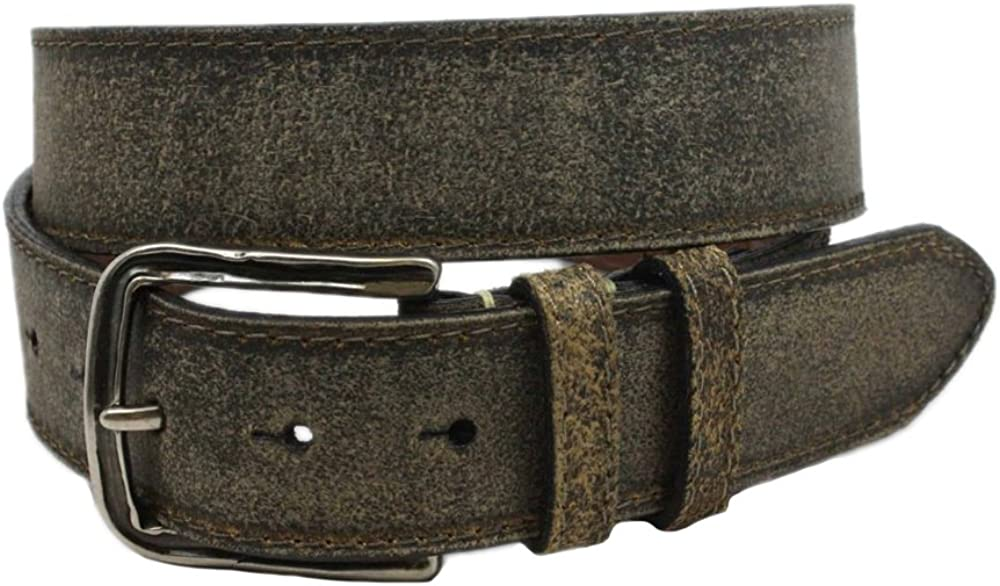 Torino Sanded Cowhide Belt in Moss