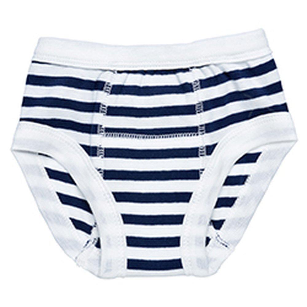 Egyptian Organic Cotton Print Training Pants, Navy Stripe, 2-4 Years