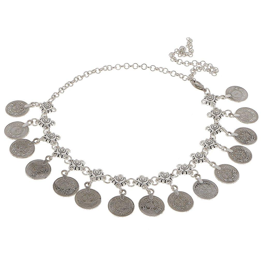 Antique Silver Bohemian Gypsy Coins Tassel Head Chain Headpieces Jewelry Generic STK0156007231
