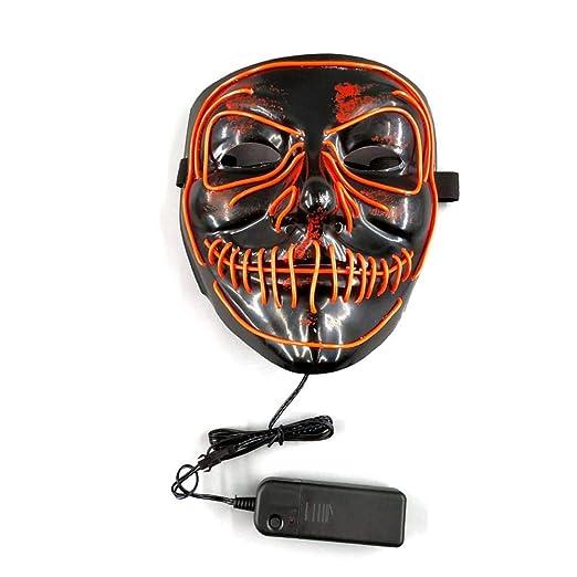 Onlyonehere Máscara de luz LED, Máscara Luminosa Horror Máscara de ...