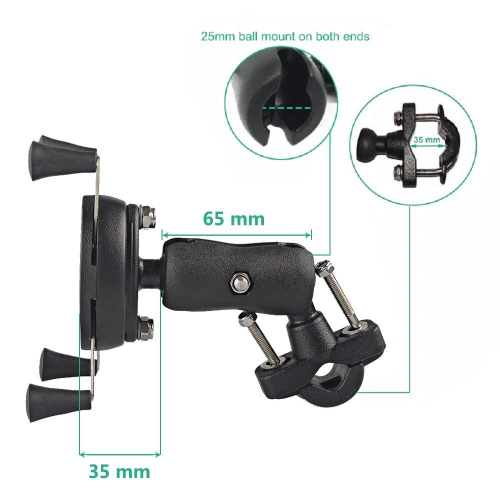 LILSIS Universal Motorcycle Phone Mount Bike Handlebar Camera Holder 360 Degree Rotation Fits 3.5-6.5inches Smartphones