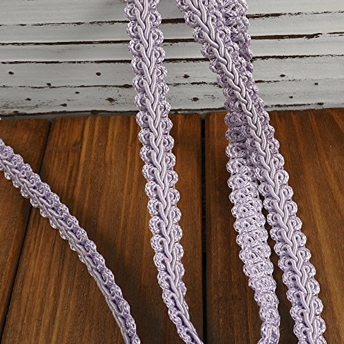 Vintage Chinese Braided Gimp Trim, Lavender, 1/2 inch by 3-Yards, BADE-60197