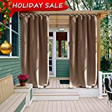 OVER ALL              Impress your friends, family and guests with NICETOWN Ready Made Indoor /Outdoor Tab Top Curtain Panels.       These simple yet elegant panels are a nice finishing touch to any outdoor extension of your h...
