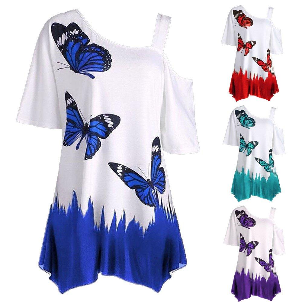 Amazon.com: hgwxx7 mujeres Casual Plus Tamaño de la mariposa ...