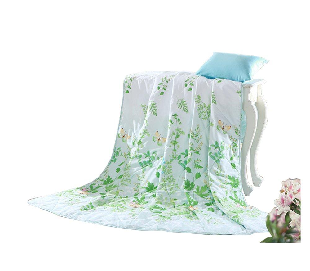 Summer cool quilt Fresh grass wormwood summer quilt, cotton air conditioning quilts, machine washable cotton, bedding (Size : 150200cm)