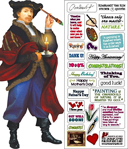 (Rembrandt Quotable Notable - Die Cut Silhouette Greeting Card and Sticker Sheet)