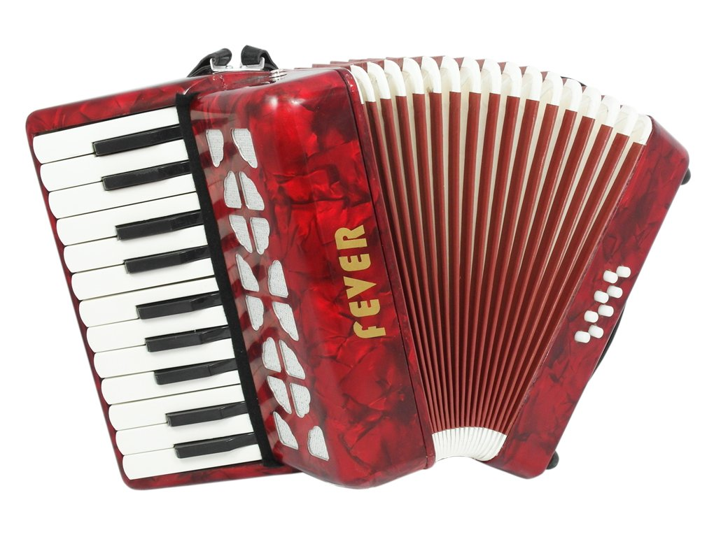 Fever F228-MX Piano F228-MXAccordion 22 Keys 8 Bass, Red, White, Green