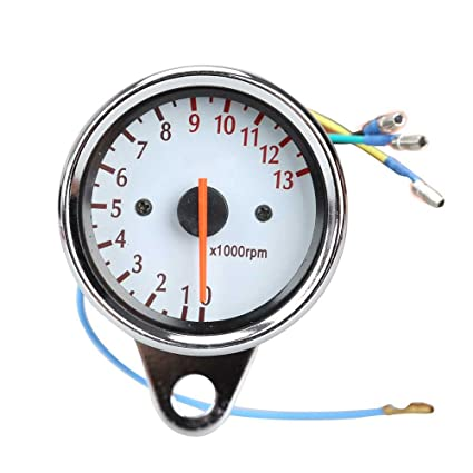 amazon com universal 13000 rpm scooter analog tachometer gauge universal tachometer wiring diagram universal 13000 rpm scooter analog tachometer gauge night light for motorcycle