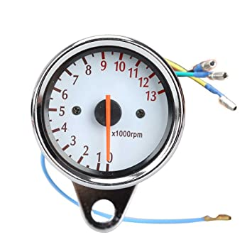 61tIxM7hDRL._SY355_ amazon com universal 13000 rpm scooter analog tachometer gauge tachometer wiring diagram for motorcycle at bakdesigns.co