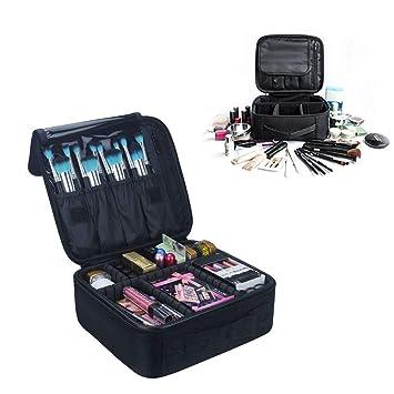 Neceseres de Maquillaje, Pulchram Bolsa de maquillaje para viaje impermeable Organizador de maquillaje con divisiones extraíbles Bolsas de aseo de ...