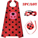 Ladybug Marinette Halloween Christmas Costume For Boys Cosplay Kids Party Clothes Mask Superman Cloak