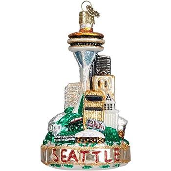 Amazon.com: Seattle Washington City Skyline Christmas Ornament: Home ...