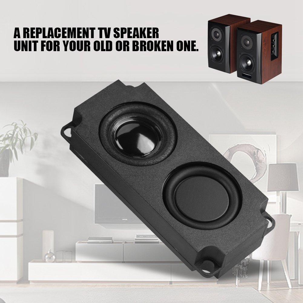 Zerone 8/Ohm 5/W Interface Rectangle Haut-Parleur Audio Magnet Haut-Parleur amplificateur LED TV Haut-Parleur PC Ordinateur Ordinateur Portable Tablette Haut Parleur 2/Pcs