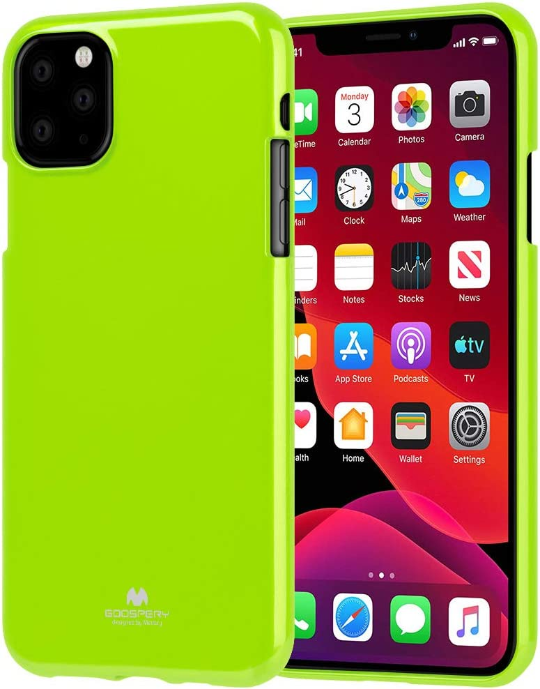 Goospery Pearl Jelly for Apple iPhone 11 Pro Max Case (6.5 inches) Slim Thin Rubber Case (Lime) IP11PM-JEL-LIM