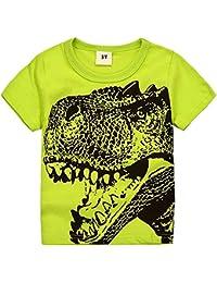 Little Boys Toddler Dinosaur T Rex Short Sleeve Tee T Shirt