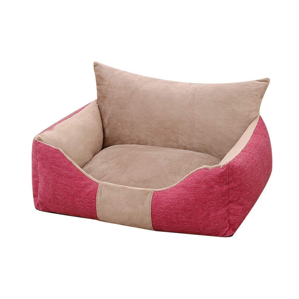 LC-Kwn Pet Nest-Deluxe Soft Washable Dog Pet Warm Basket Bed Cushion (Color : Red, Size : S) by LC-Kwn