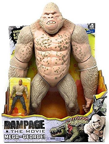 Rampage Mega George Gorilla Movie Toys Monkey The Rock Action
