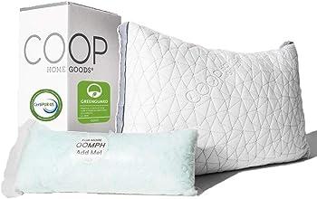 Coop Home Goods Adjustable Hypoallergenic Eden Shredded Memory Foam Pillow