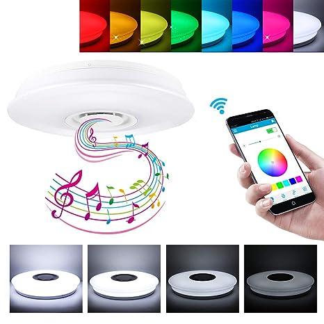 OurLeeme Plafóns LED Lámparas, Luz de techo LED Bluetooth ...