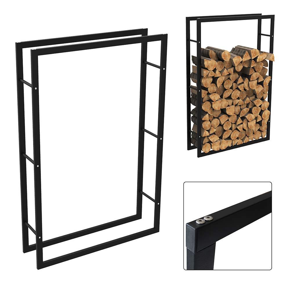 aufun metal Chimenea Soporte de madera –  Leñ a Leñ a estante estanterí a AM Chimenea Madera Soporte Madera