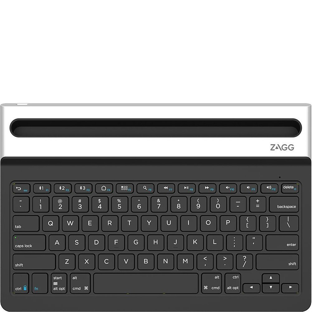Zagg Limitless Full Size Multi Device Universal Messenger 12 Inch Wireless Keyboard For Apple Android Bluetooth Backlit Black Computers Accessories
