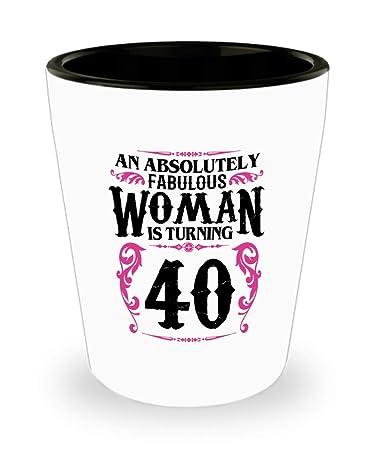 Amazon.com: Copa de cerámica para mujer de 40 años de edad ...