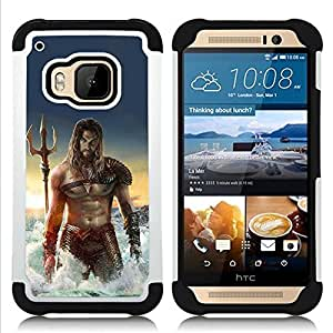 - sexy man sea abs muscles Poseidon/ H??brido 3in1 Deluxe Impreso duro Soft Alto Impacto caja de la armadura Defender - SHIMIN CAO - For HTC ONE M9