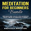 Meditation for Beginners Bundle: Guided Meditations to Relieve Stress and Increase Positive Thinking with Mindfulness Techniques Speech by  Mindfulness Meditations Narrated by  Mindfulness Meditations