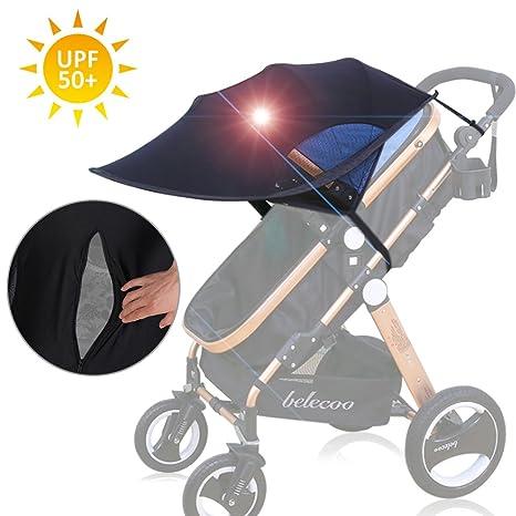 FREESOO Toldo Protector Solar Universal para Cochecitos Capazos Carrito de Bebé Sillas de Paseo Sombrilla Parasol Protección UV contra el Viento a ...