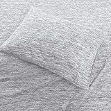 Urban Habitat Space Dyed Cotton Jersey Knit Sheet Set Grey Queen