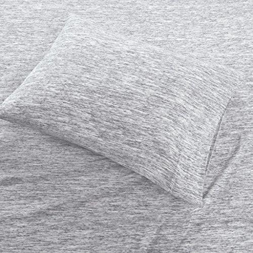 Urban Habitat Space Dyed Cotton Jersey Knit Sheet Set Grey