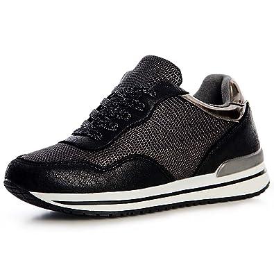 44dbf24fd93e81 topschuhe24 1321 Damen Plateau Turnschuhe Sneaker Derby Metallic   Amazon.de  Schuhe   Handtaschen