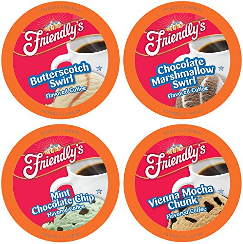 Friendly's Single-Cup Coffee for Keurig K-Cup Brewers Variety Pack, 40 Count