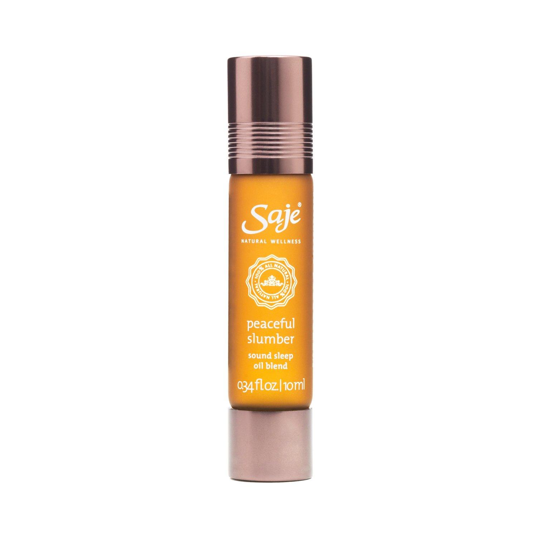 Saje Peaceful Slumber Essential Oil Blend, Encourages Restful Sleep, Roll-On Application, 100% Natural (0.34 fl oz)