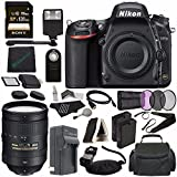 Nikon D750 DSLR Camera (Body Only) + Nikon AF-S NIKKOR 28-300mm f/3.5-5.6G ED VR Lens + 77mm 3 Piece Filter Set (UV, CPL, FL) + Battery + Sony 128GB SDXC Card + HDMI Cable + Card Reader + Flash Bundle