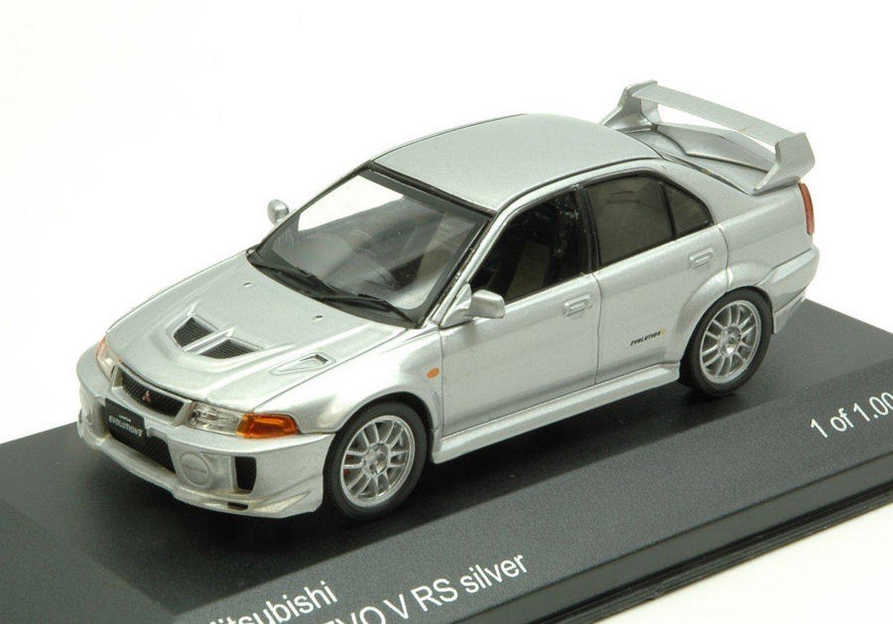 WHITEBOX WB214 Mitsubishi Lancer EVO V RS 1998 Silver 1:43 MODELLINO Die Cast