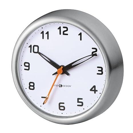 mDesign Reloj de baño con ventosa – Reloj de pared fácil de colgar – El accesorio