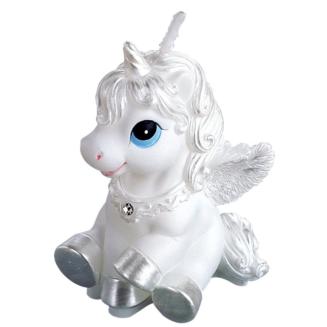 ILIKEPAR Birthday Candles White Flying Horse Candles Animal Smokeless Cake Topper Candle for Party Supplies and Wedding Favor