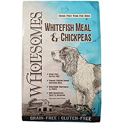 Wholesomes Whitefish Meal & Chickpeas Grain-Free Dry Dog Food, 35 lb.